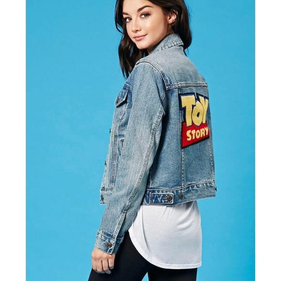 5acad4ce292 Forever 21 Jackets   Blazers - Forever 21 Disney Toy Story Denim Jacket  Medium